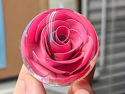 Pink Hand Bent Metal Rose Shift Knob 100% Unique 60mm Diameter