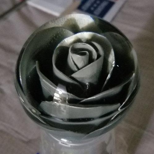 Silver Hand Bent Metal Rose Shift Knob