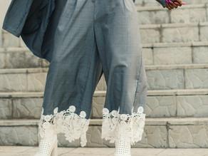 Pantalon con pliegues I