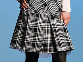 Como hacer falda plisada con cotilla