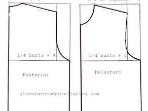 Molde basico de blusa sin pinzas