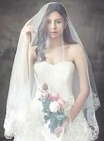 Vestido de novia corte princesa acampanado