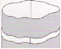 Otra forma de colocar elástico para fruncir o ajustar es colocarlos dentro de un doblez de tela