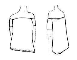 Como hacer blusa con mangas y sin hombros.