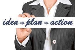 Necesita una idea, un plan y tomar accion