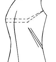 Corrigiendo defectos al costado en molde de blusa