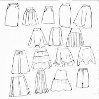 Todas las faldas que puedes hacer usando el básico de falda