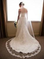 Como trazar la cola al vestido de novia