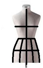 Alistar el maniquí para el draping