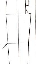 Trazo del pantalón sarouel 1