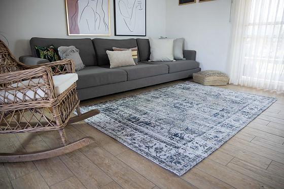 תמונת אווירה של שטיח לסלון