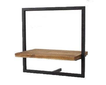 """מדף עץ מסגרת פרזול 35 ס""""מ"""