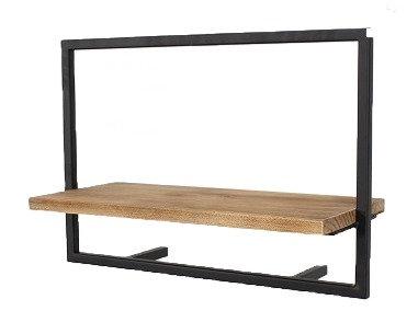 """מדף עץ מסגרת פרזול 50 ס""""מ"""