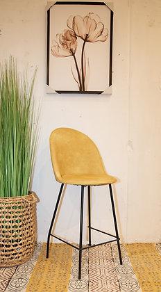 כיסא בר בלגיה בד רחיץ חרדל