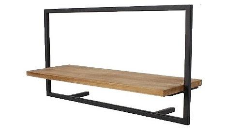 """מדף עץ מסגרת פרזול 65 ס""""מ"""