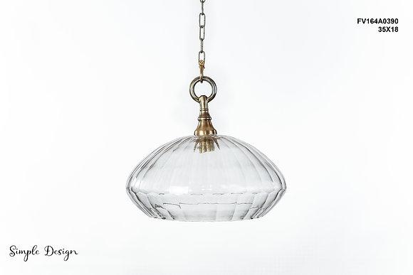 מנורת תלייה זכוכית -מידד