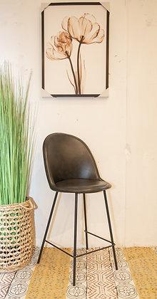 כיסא בר בלגיה בד רחיץ שחור