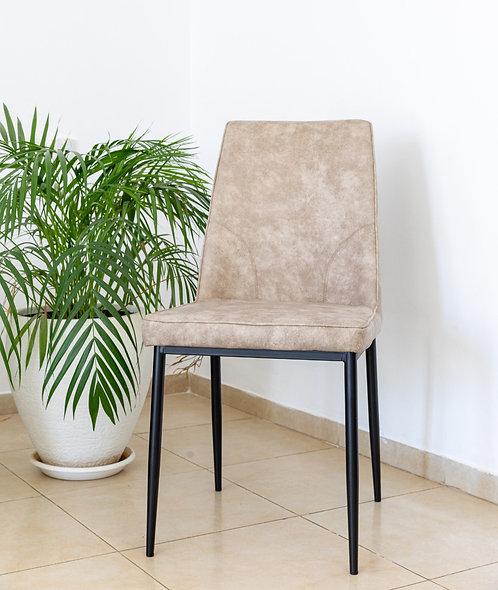 כסא שחר PU בז'