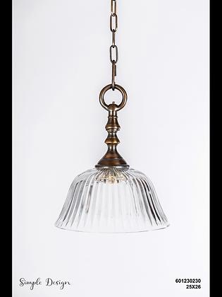 מנורת תלייה זכוכית - נועד