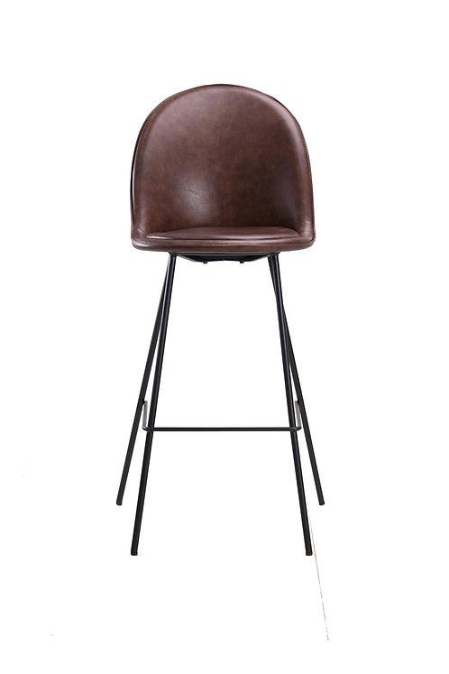 כיסא בר בלגיה בד רחיץ חום