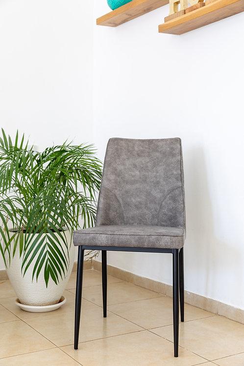 כסא שחר PU אפור