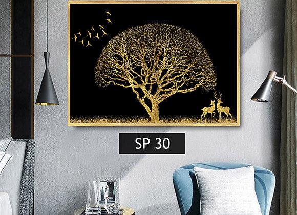 עץ לילה מוזהב
