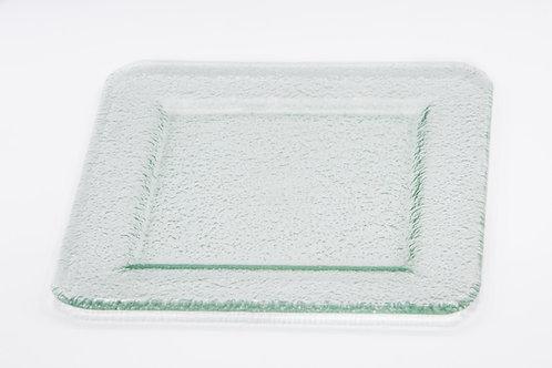 צלחת מנה ראשונה זכוכית גוון ירקרק