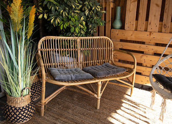 כרית מושב קטיפה - אפור בהיר