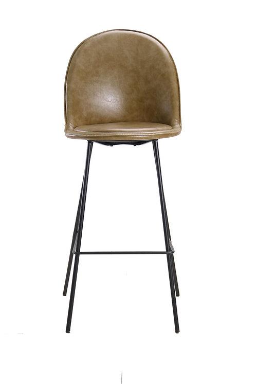 כיסא בר בלגיה בד רחיץ ירוק חאקי