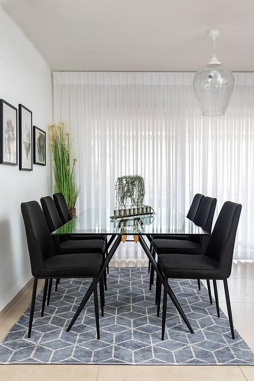 שולחן אוכל אגם+ 6 כסאות