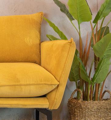 כורסא דגם מילאנו צבע חרדל