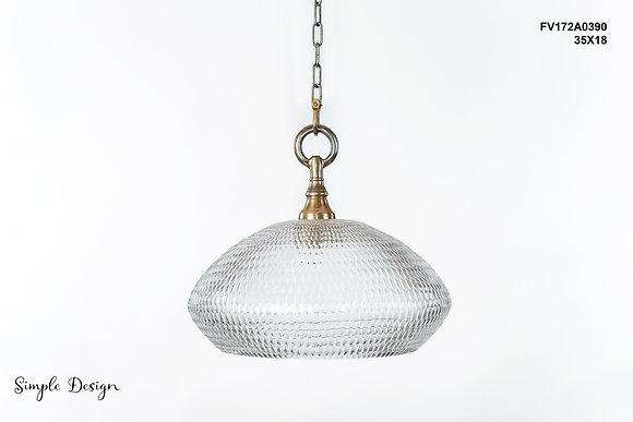 מנורת תלייה זכוכית -מישל