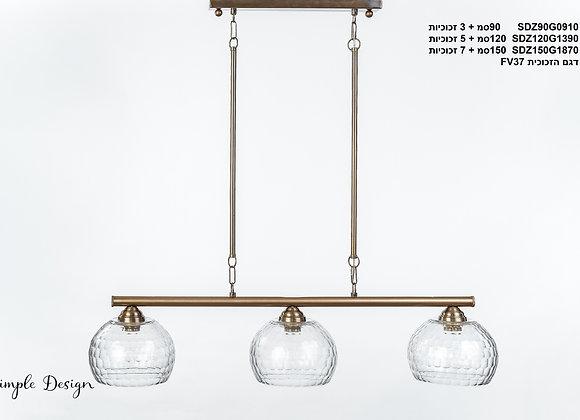 מנורת תלייה צינור - לאה