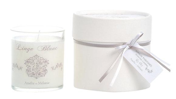 AMELIE ET MELANIE - Bougie parfumée LINGE BLANC