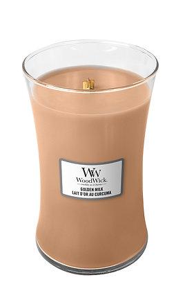 YANKEE CANDLE / WOODWICK - Grande jarre Lait d'or au curcuma