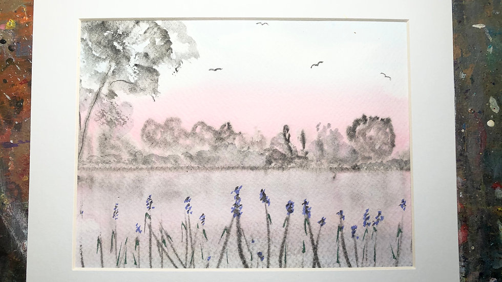 Blue Iris By The Lake