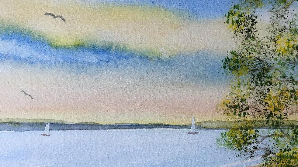 Spring Sailing On The Lake