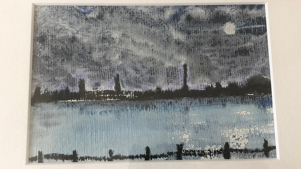 Moonlit City River