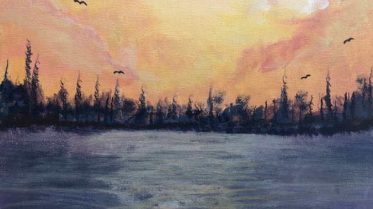 A Winters Dawn Across The Lake