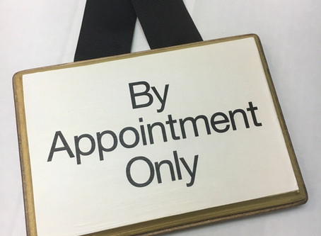 New Hours: By Appointment Only