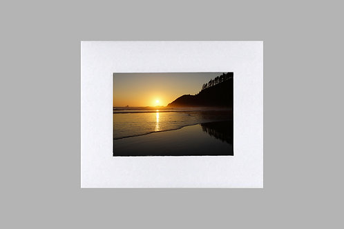 20 x 24 Matted Print - Ecola Sunset