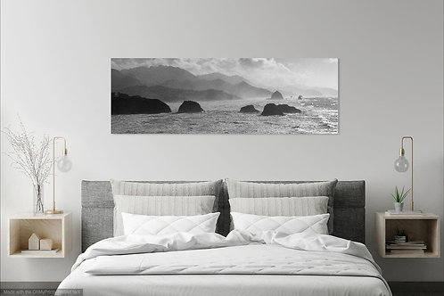 16 x 48 Stretched Canvas Print - Ecola Seascape