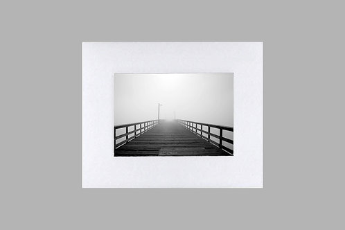 20 x 24 Matted Print - Pier in Fog