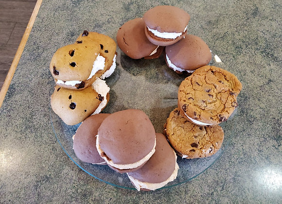 Traditional, Pumpkin, Chocolate Chip, and Chocolate with Peanut Butter Filling