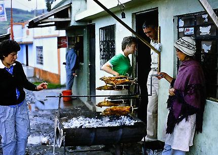 Ecuador 07a, spit roasting Guinea Pigs,