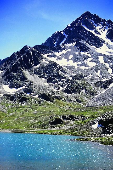 Italy 17a, Glacier lake, Alps, Stelvio N