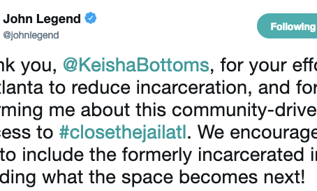 John Legend Supports #CommunitiesOverCages Campaign & Formerly-Incarcerated Led Process to Repurpose