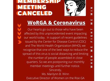 COVID-19 UPDATE: Membership Meetings Canceled