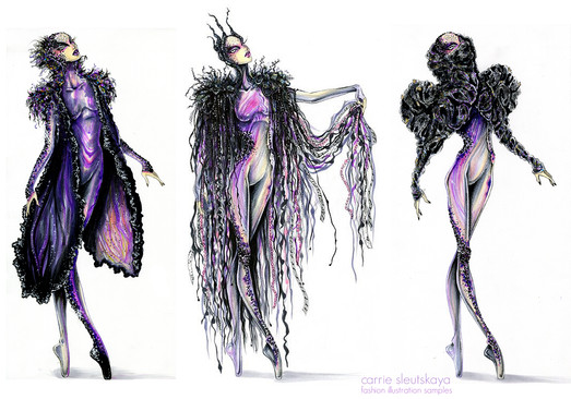 Fashion Illustration for Cirque du Soleil