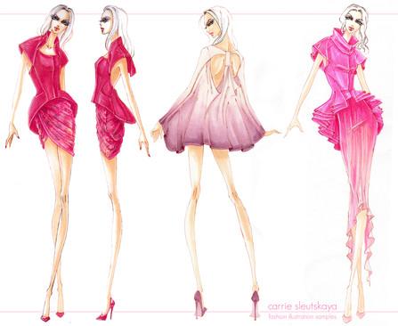 Fashion Illustration for David Meister